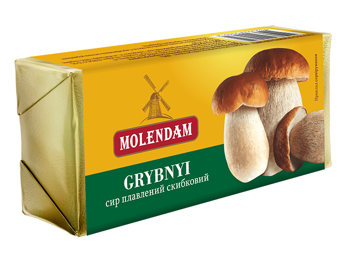 "Processed cheese brick  ""Grybnyi"""